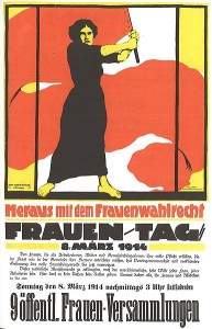 Plakat fra 8. mars 1914. Via Wikipedia Commons.