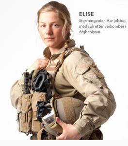 Faksimile fra Forsvarets veterankampanje. Kunne man latt være å nevne hvor hun har tjenestegjort?