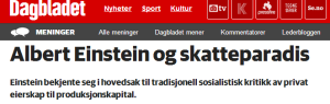 Screen shot from Dagbladet's opinion section online.