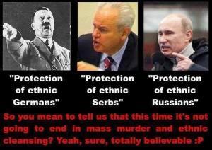 Det er ikke bare jeg som nevner Milosevic i samme åndedrag. Det gjør også ukrainsk krigspropaganda.