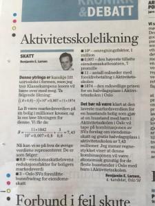 Faksimile av innlegget på trykk i Klassekampen 19/8